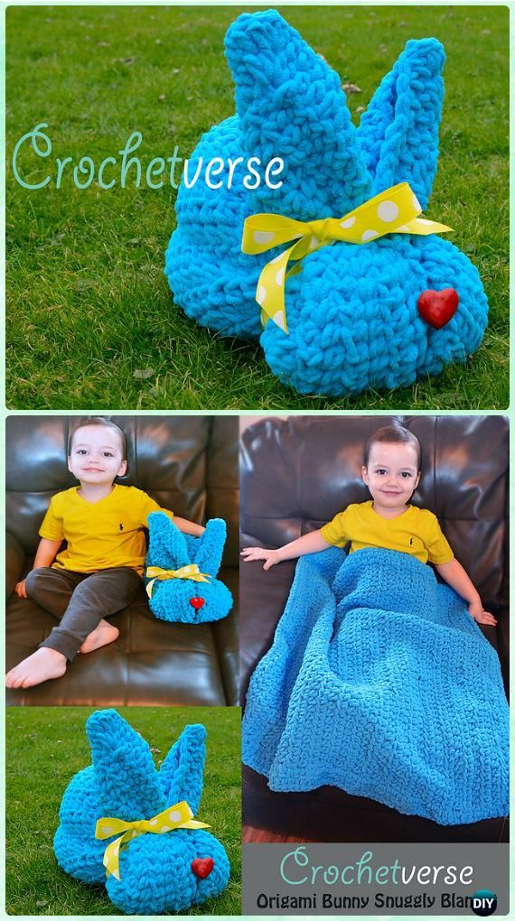 Crochet origami bunny snuggly blanket free pattern crochet baby crochet kids easter gifts free patterns crochet easter blankets bunny hat chick hat bunny toy slippers for babies and kids negle Image collections