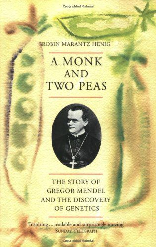 A Monk and Two Peas: The Story of Gregor Mendel and the Discovery of Genetics by Robin Marantz Henig http://www.amazon.co.uk/dp/0753811227/ref=cm_sw_r_pi_dp_PvV6vb0B9CRBF