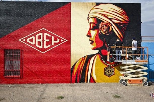 Street Art OBEY Fresque 01 | Shepard Fairey | Pinterest | Street art ...
