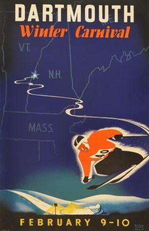 Original Dartmouth Winter Carnival Poster 1988