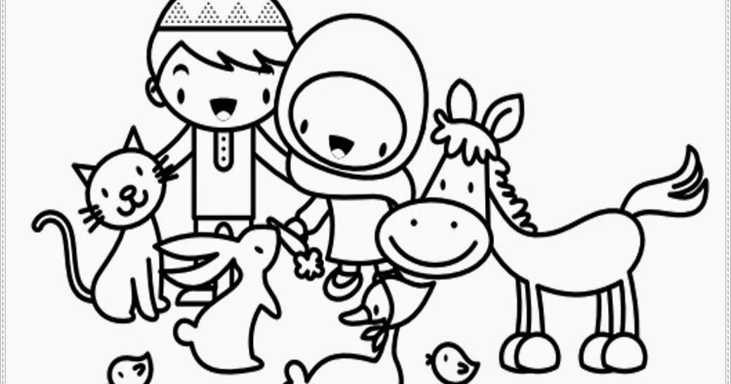 30 Gambar Kartun Binatang Untuk Mewarnai Di 2020 Dengan Gambar
