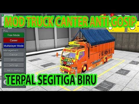 Truck Canter Anti Gosip Trepal Segitiga Id Mod Xyz Truk Terpal Mobil