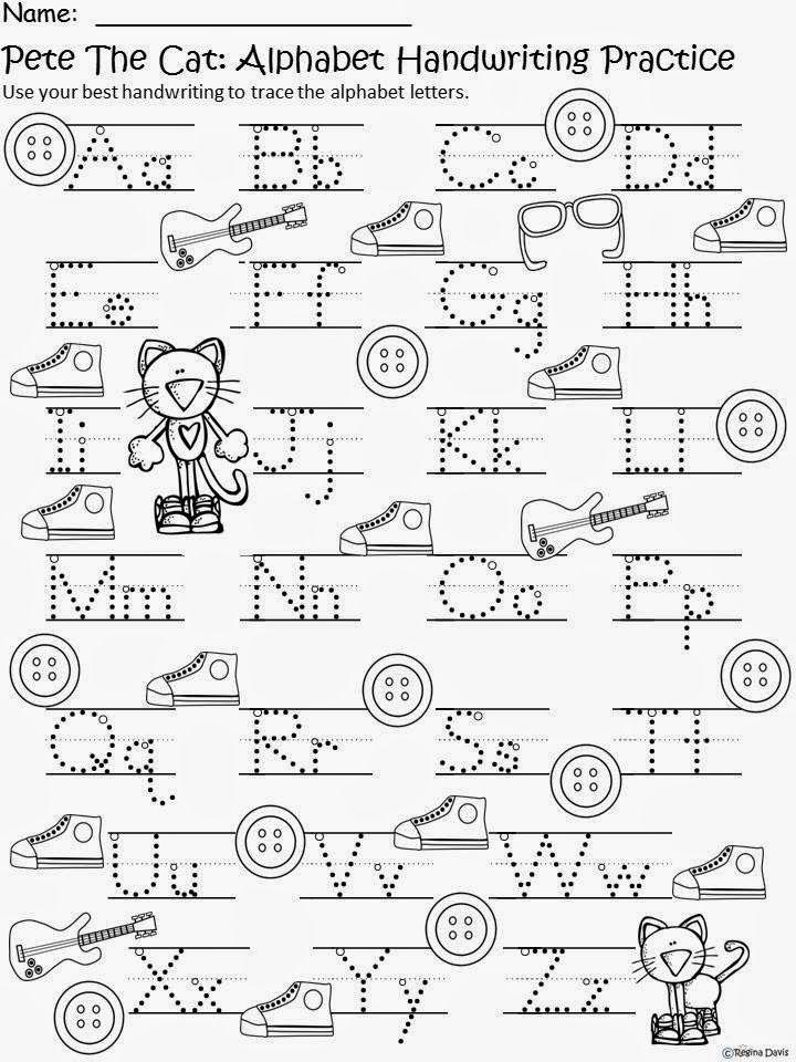 FREE Pete the Cat writing practice | Dibujos para colorear ...