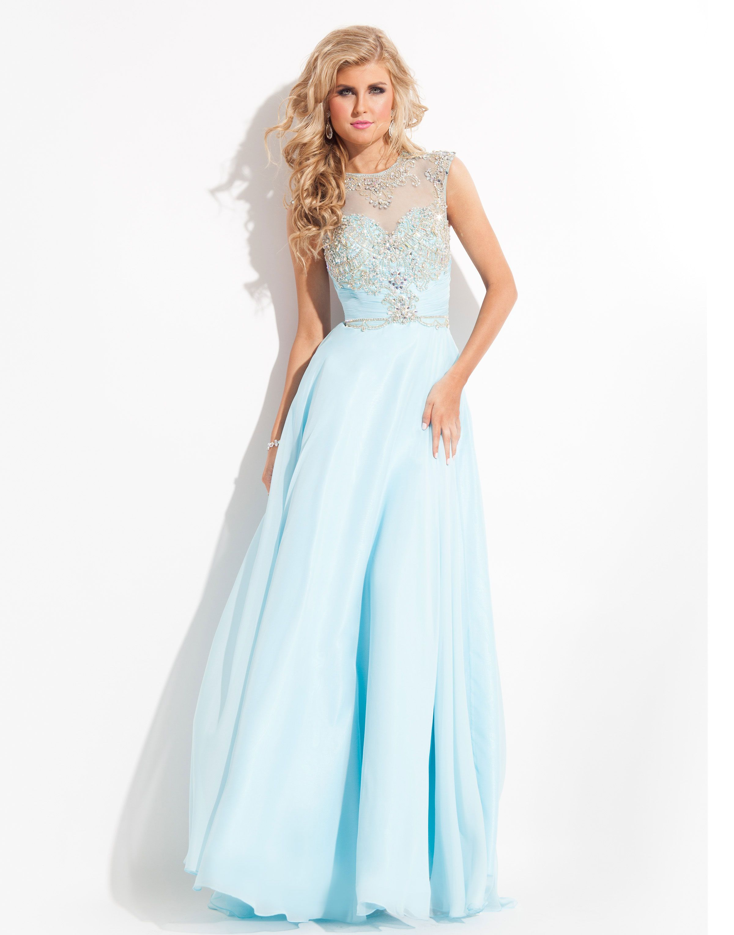 Wedding dresses for thin figures  Embellished Prom Dresses  Bodice and Light blue