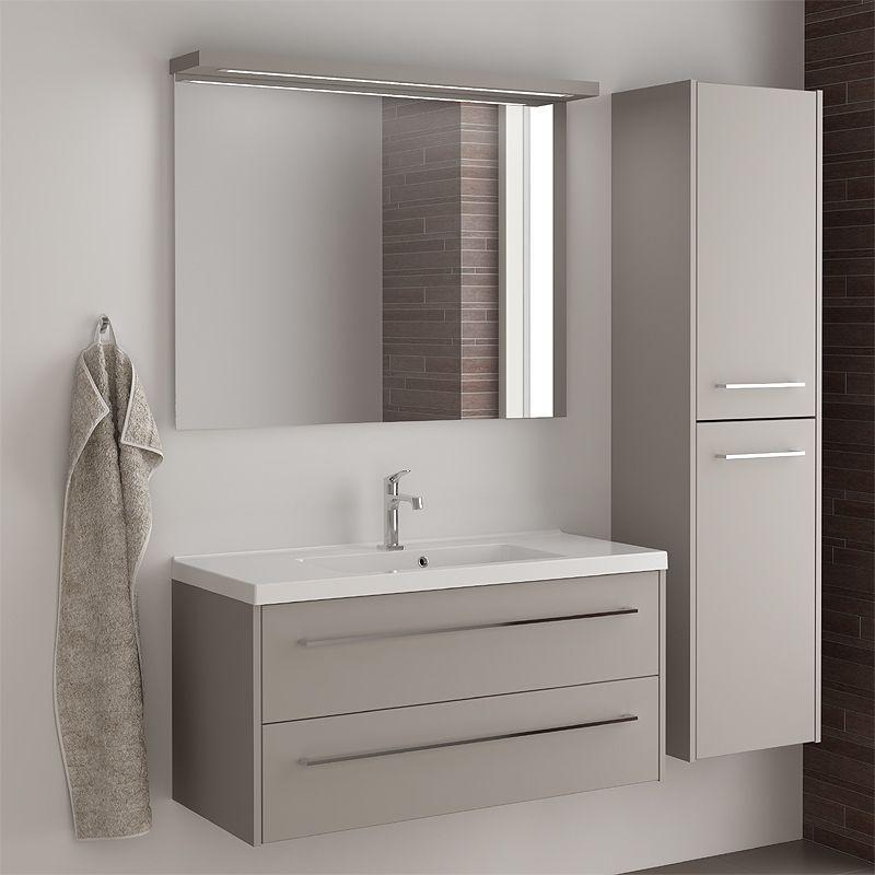 Badezimmer Waschplatz Set LUGIE256 Vanilla grey matt Jetzt bestellen ...