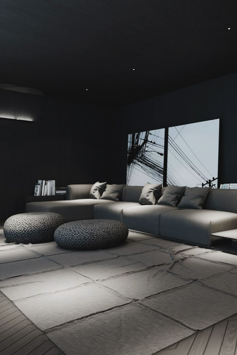 "envyavenue: ""Black Living Space "" X 