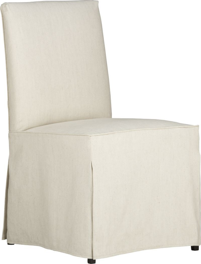 Barrel Chair Slipcover Miles Side Chair Slipcover Crate And Barrel Dining Chairs