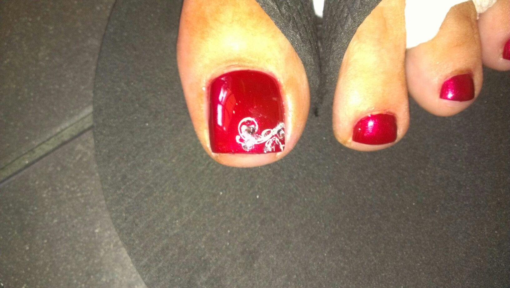 Fancy toe nail design | Nails | Pinterest | Toe nail designs ...