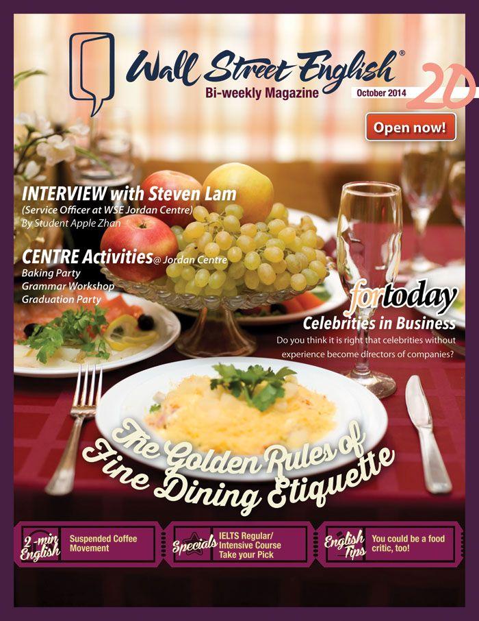 wall street english bi weekly magazine no 20 the golden on wall street english id=97029