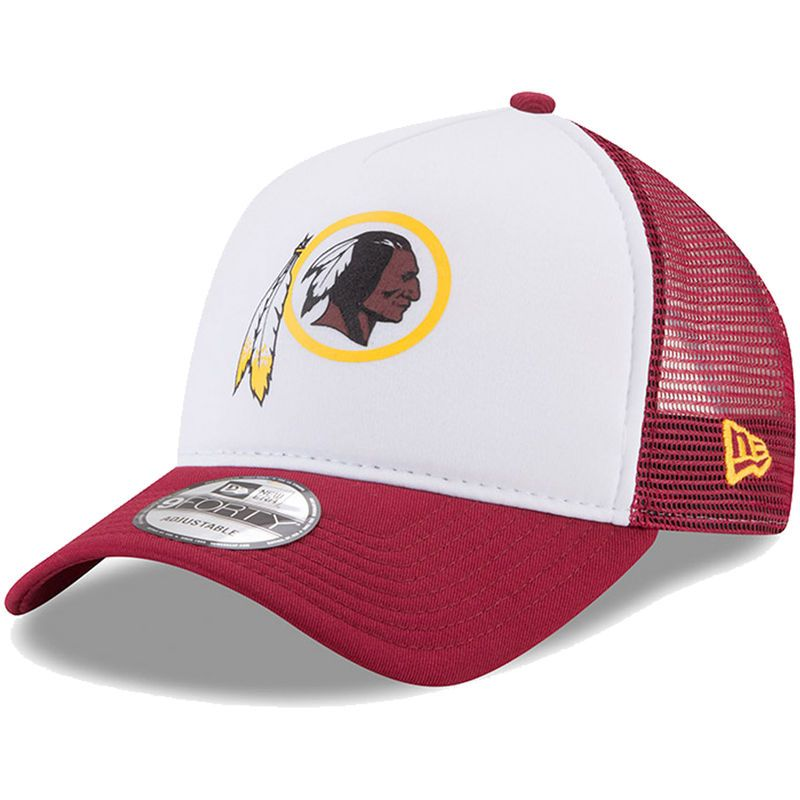 96df76948 Washington Redskins New Era Trucker Hit 9FORTY Adjustable Hat - White/ Burgundy