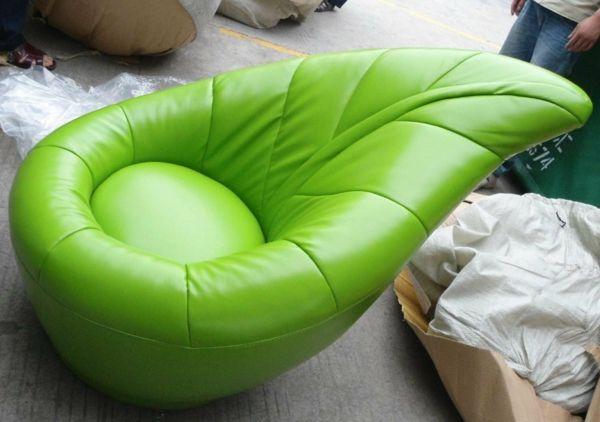 komfortabler kinder stuhl grün ergonomisch design gepolstert leder - dekoration wohnzimmer grun