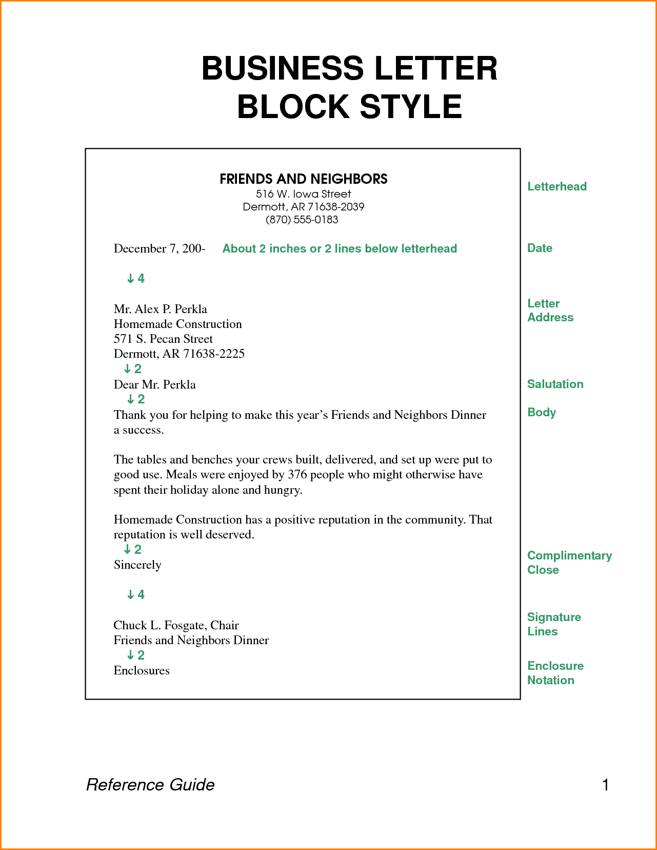 business letter block style letters format download free documents