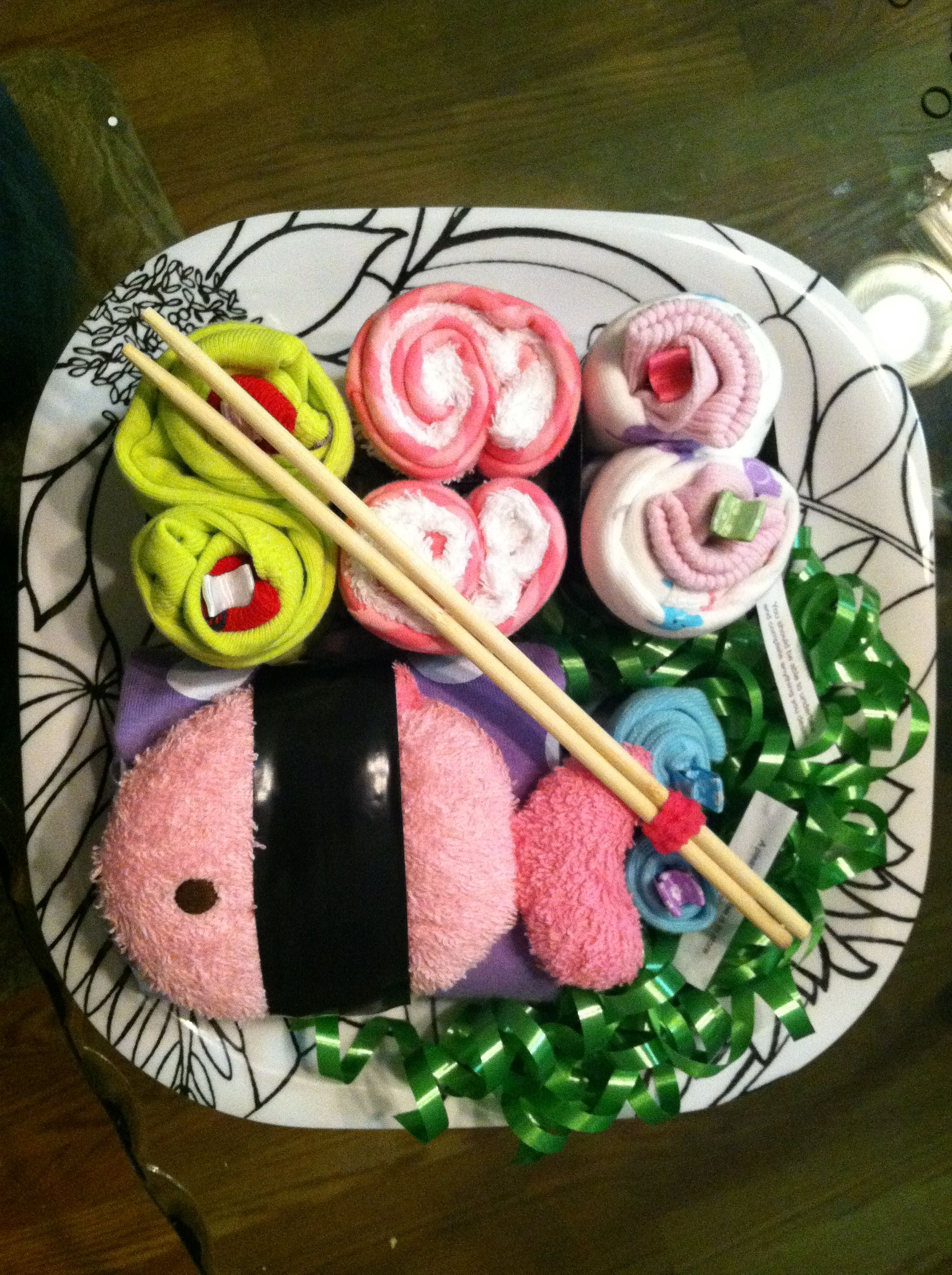 Sushi baby shower gift really cute idea do it yourself baby sushi baby shower gift really cute idea do it yourself solutioingenieria Images