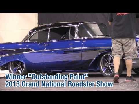 1957 Chevy Bel Air Bad In Blue Grand National Roadster Show