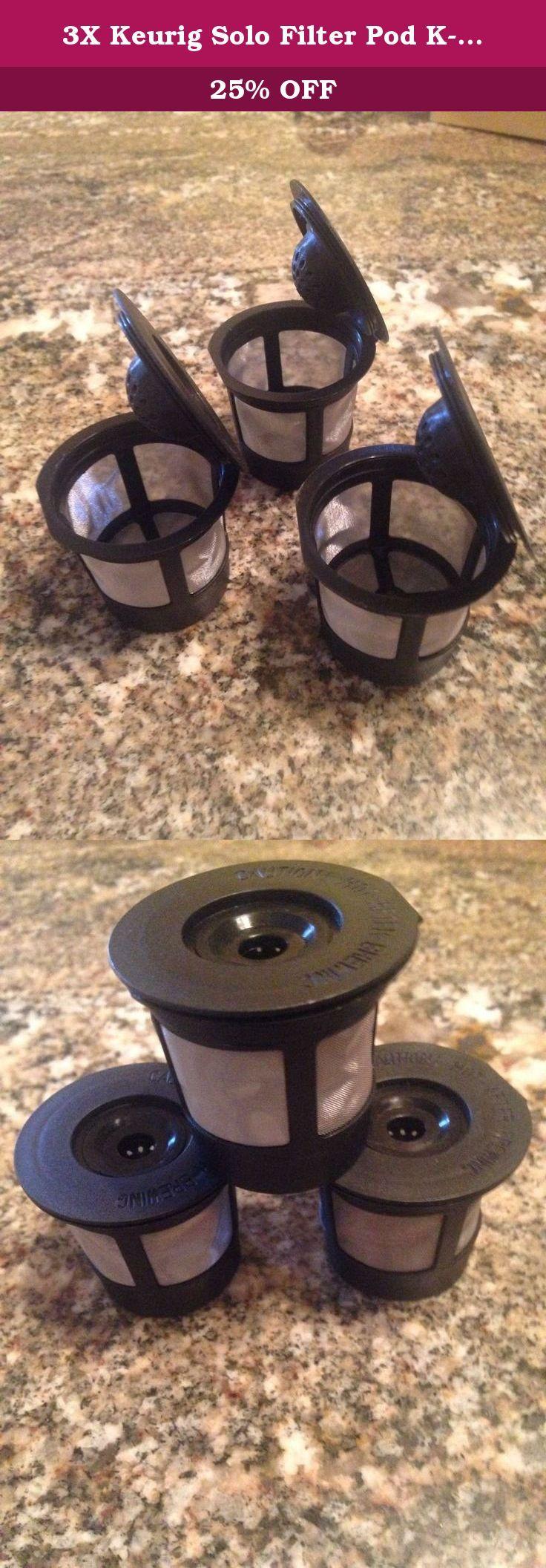 3X Keurig Solo Filter Pod KCup Coffee K65 K60 Spec