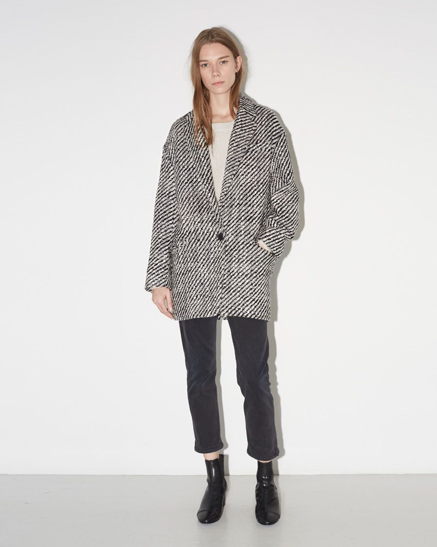 90ca8d4a384 ISABEL MARANT | Ilaria Tweedy Coat | Shop at La Garçonne | fall ...