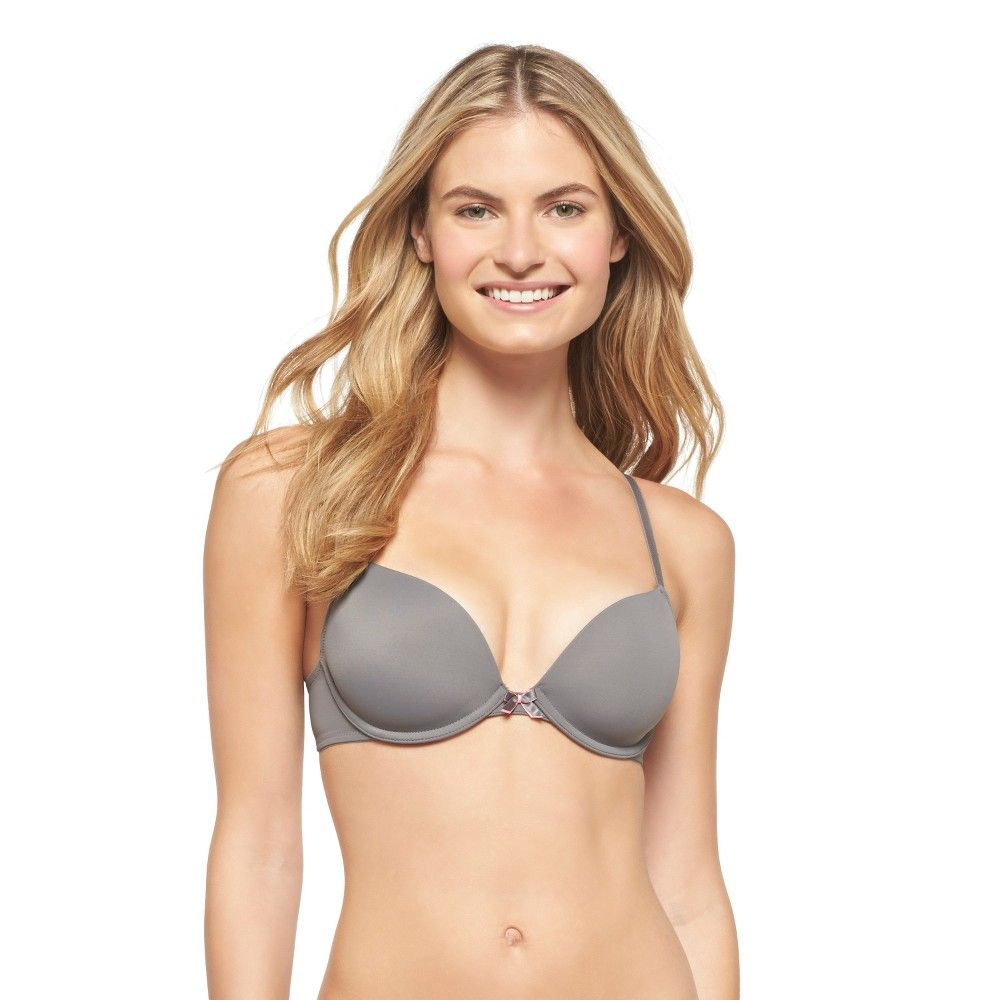 127e305974ee7 Women s Perfect T-Shirt Convertible Lightly Lined Plunge Bra Iron Gray 32DD  - Xhilaration