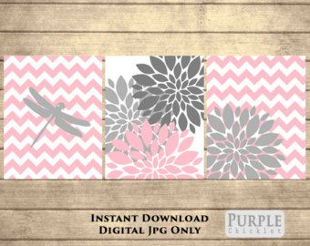 Flower Bursts Blossoms Botanical Printable Art 1 by PurpleChicklet