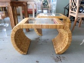 Woven Rattan SCROLL Tables for the Living Room ;)