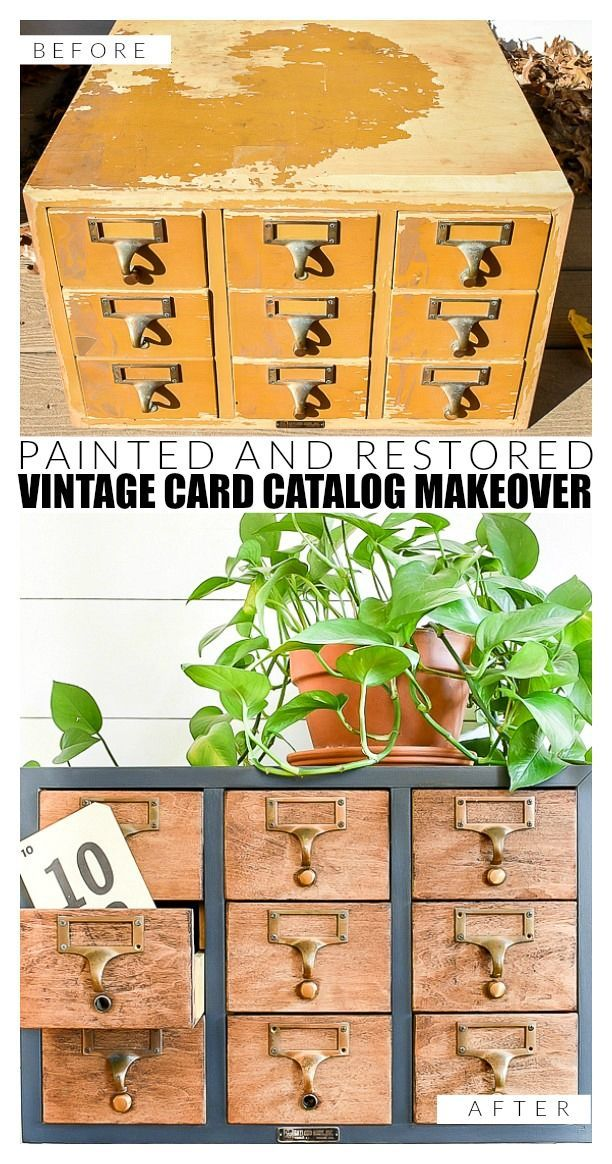 How to Repair and Restore A Vintage Card Catalog