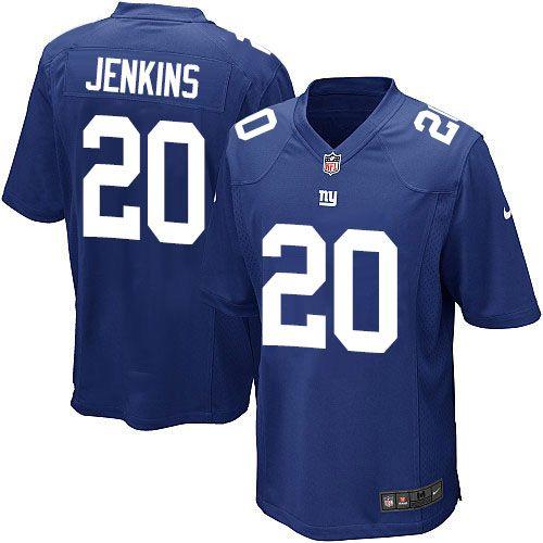 mens nike new york giants 20 janoris jenkins game royal blue team color nfl jersey