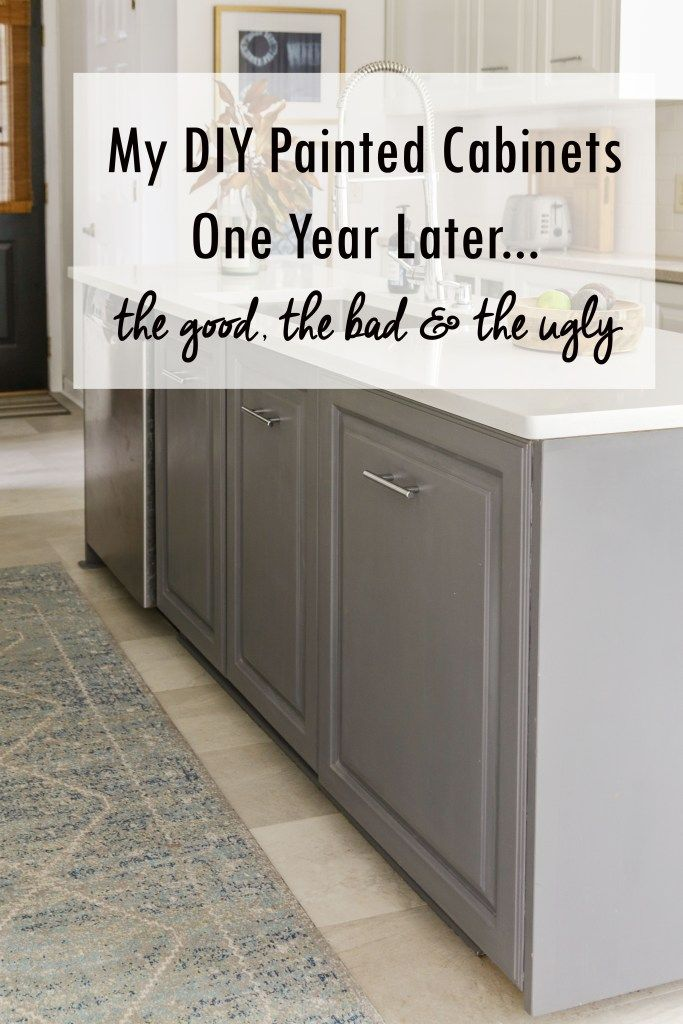 An Honest Review of My Milk Paint Kitchen Cabinets One Year Later
