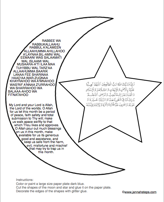 Star and moon template manualidades pinterest ramadan crafts star and moon template maxwellsz