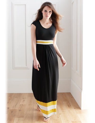 c2d965cac00cb Stripe Detail Maxi Dress in Black by Pepperberry - | Sewing ...