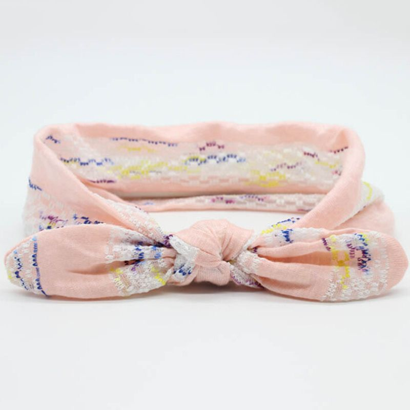 $2.15 (Buy here: http://appdeal.ru/5pyw ) Baby Kids Girls Children Toddler Newborn Infant Rabbit Ears Knot Lace Turban Hairband Baby Headband Hair Bands Hair Accessories for just $2.15