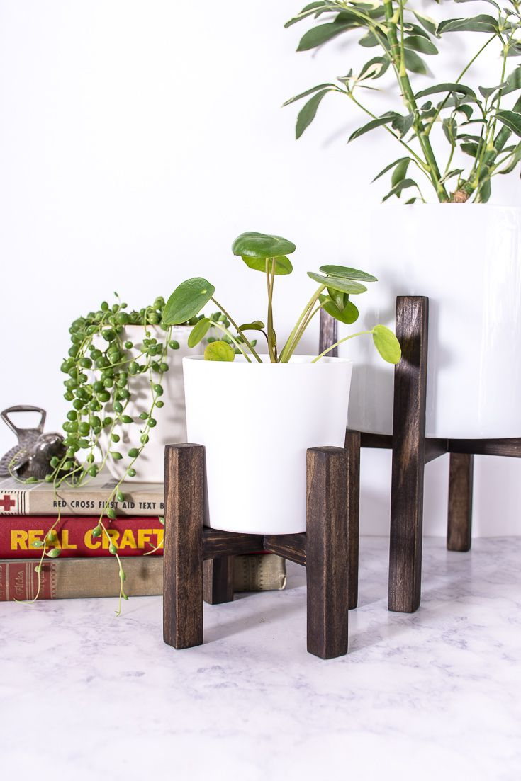Make A Mini Tabletop Plant Stand Diy Plant Stand Plant Stand Diy Plants
