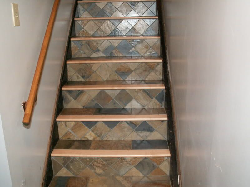 Delightful Tiled Stair Risers