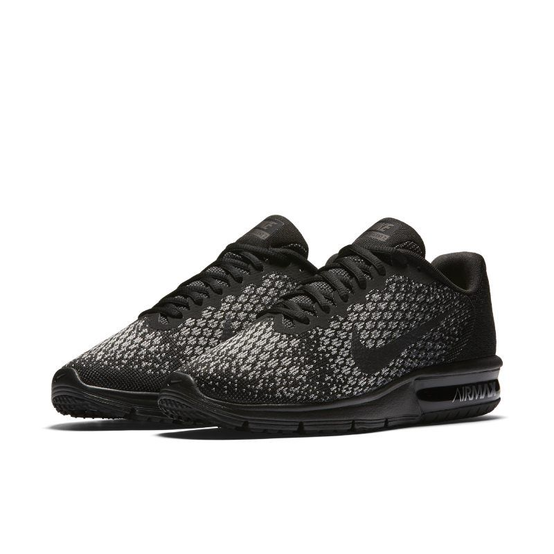 Shop Nike Air Max Sequent 2 Shoe Online Black : Casual
