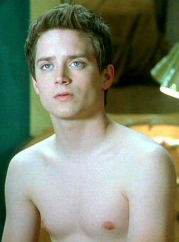 shirtless Elijah wood