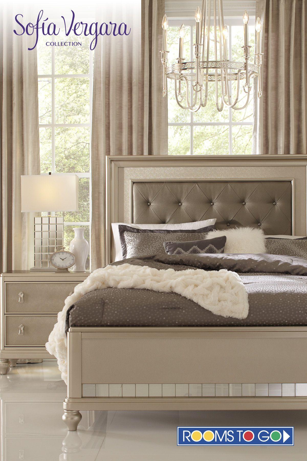Sofia Vergara Paris Silver 5 Pc Queen Bedroom Champagne Bedroom Luxury Bedroom Furniture Bedroom Design