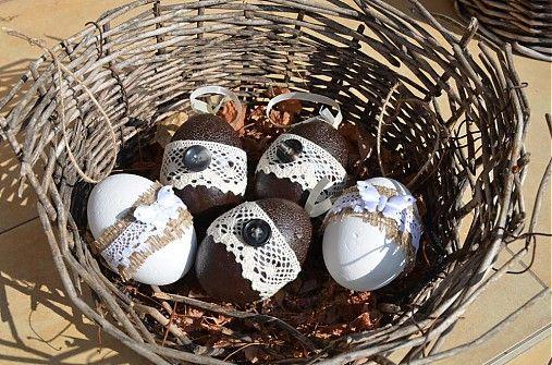 Creativite / Vintage vajíčka biele 2 ks