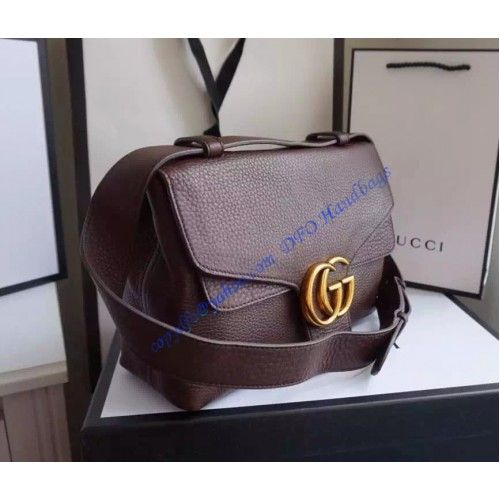f7a59f9c4ea Get a Gucci GG Marmont Leather Shoulder Bag GU401173-brown at cheap price-  USD 342. Free Worldwide Shipping.