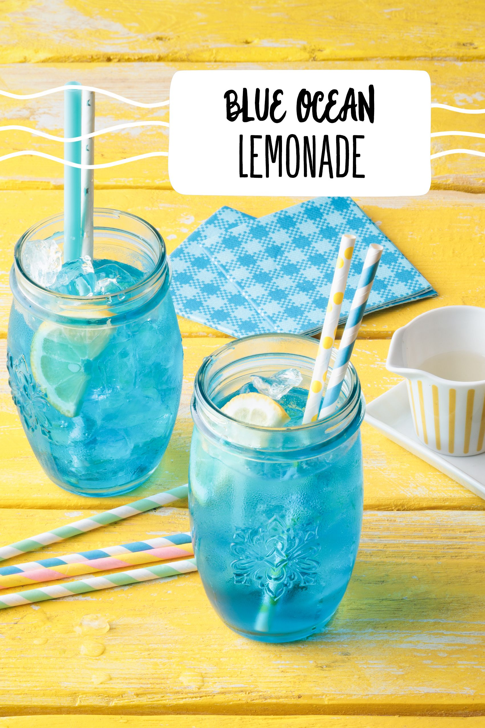 Blue Ocean Lemonade #alcoholpunchrecipes