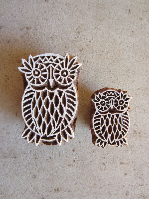 Owls block prints hand carved owl products i love