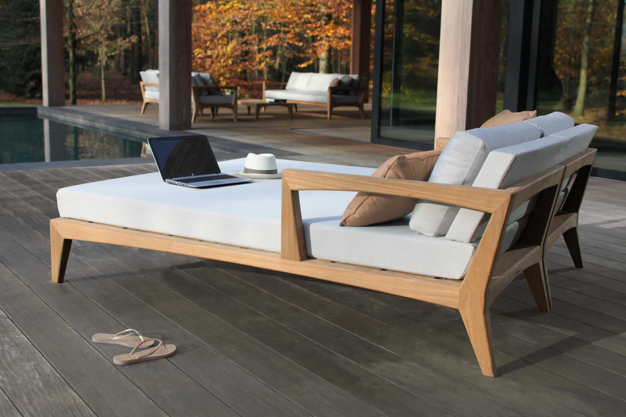 Zenhit Daybed By Royal Botania Teak Patio Furniture Outdoor Furniture Royal Botania