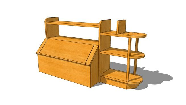 Toy Chest And Book Shelf Plans Toybox Plans Toy Chest