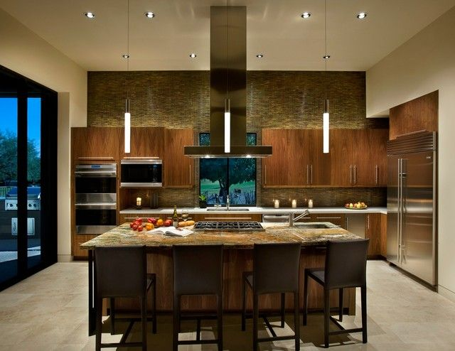 Creative Led Pendant Lights Ideas To Beautify Your Kitchens Amazing Kitchen Design Lightened By With Darkwood Cabinet An