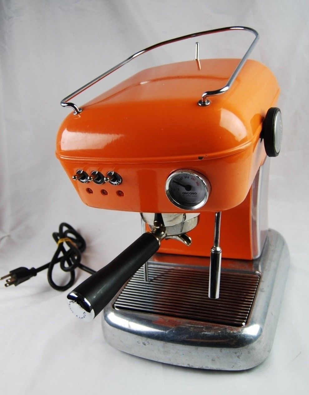 Ascaso Dream Up Orange With Accesories Tested Works Ascaso Dream Espresso Machine Accesories It Works