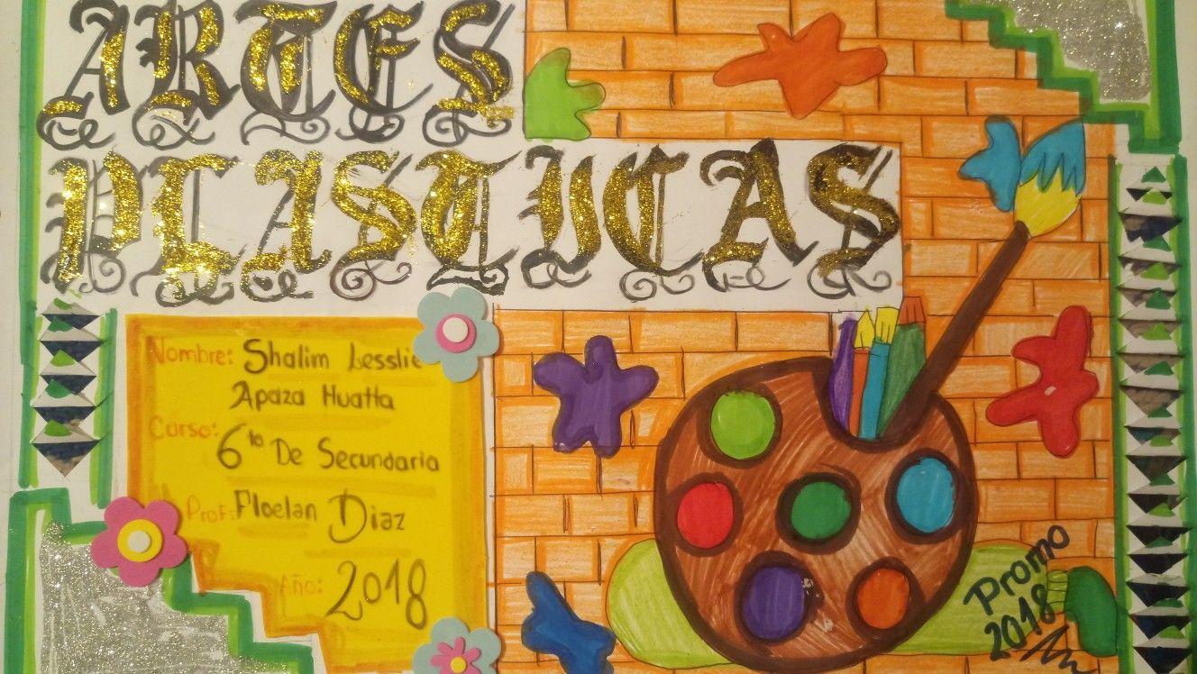 Caratula artes plasticas tareas cool for Caratulas de artes plasticas para secundaria