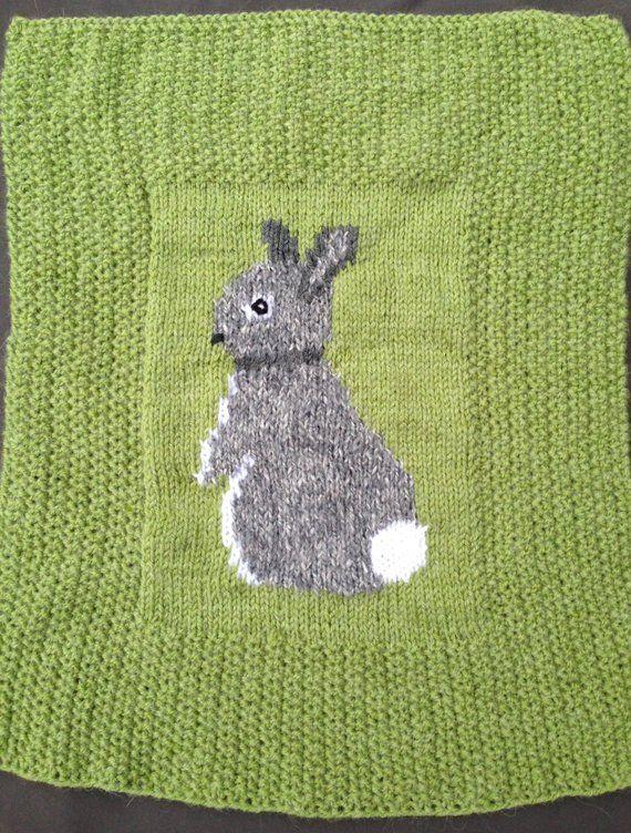 Bunny baby blanket, knitting pattern | Chunky knitting ...