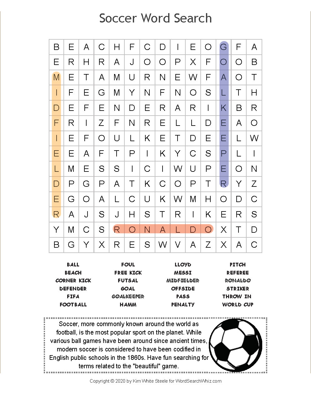 Look For 24 Vocabulary Words In This Soccer Themed Word Search Find Game You Can Play It Online Or Print It Out In 2020 Soccer Word Search Puzzles Vocabulary Words