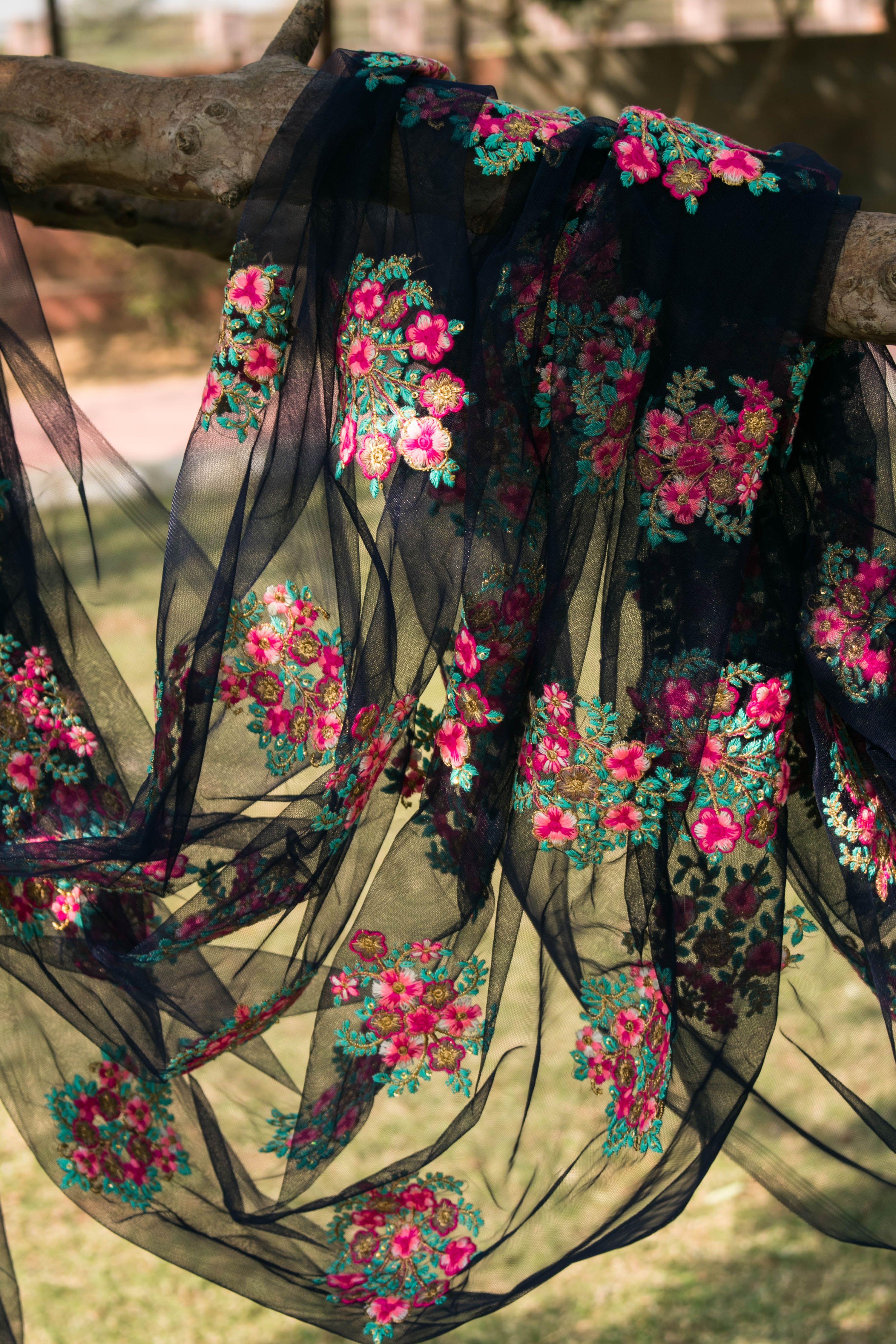 Where To Buy Embroidery Fabric : where, embroidery, fabric, Fabric, Online, Floral, Embroidery, Bridal, Fabric,, Saree