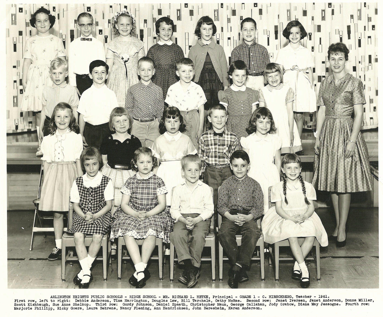 Ridge School First Grade Crystal Hirschberg Teacher 1961 Vintage School American History History