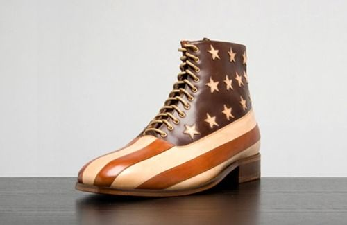 patriotic footwear finds - Wear your heart on your sleeve and your country  on your foot with this patriotic footwear.