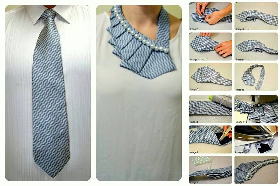 DIY Craft Project: Turn An Necktie Into A Trendy Collar | Home Best Project