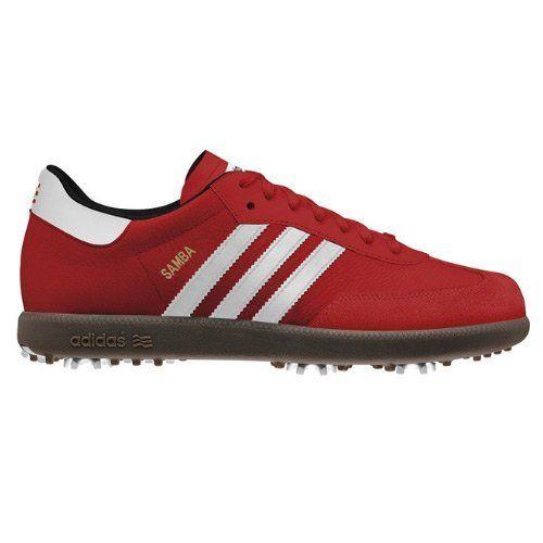 Adidas Samba Golf Shoes Red/White/Gum Medium 9 by adidas, http ...